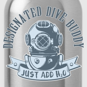 Designated Dive Buddy - Scuba Diving T-Shirts - Water Bottle
