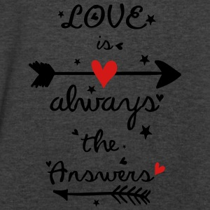 Love is always the answers Women's Flowy Tank Top  - Men's V-Neck T-Shirt by Canvas