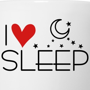 I LOVE SLEEP Pillowcase - Coffee/Tea Mug