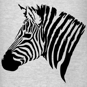 The head of the Zebra Hoodies - Men's T-Shirt