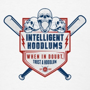 Intelligent Hoodlums Buttons LVNV Logo - Men's T-Shirt