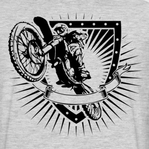motocross shield T-Shirts - Men's Premium Long Sleeve T-Shirt