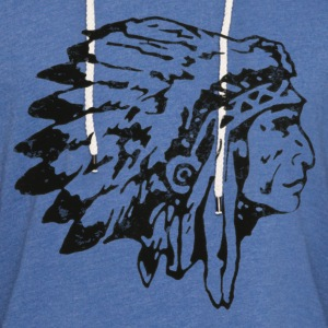 Men's Native American indian chief t shirt - Unisex Lightweight Terry Hoodie