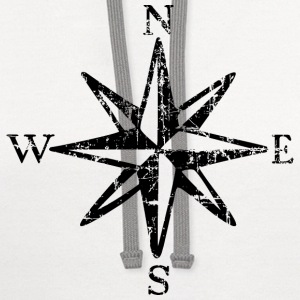 Wind Rose Cardinal Points Vintage T-Shirt (Women) - Contrast Hoodie