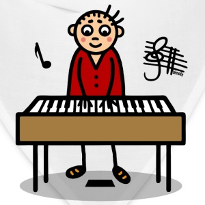 Man playing keyboard T-Shirts - Bandana