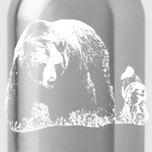 Bear and dog - Water Bottle