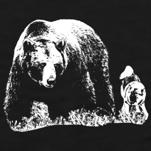 Bear and dog mug - Men's Premium Tank