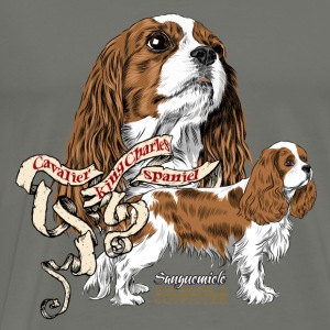 King Charles spaniel Hoodies - Men's Premium T-Shirt