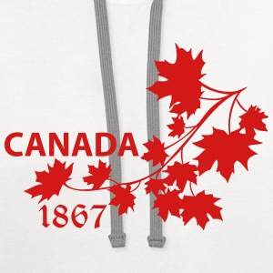 SHOULDER MAPLE LEAF canada BRANCH - Contrast Hoodie
