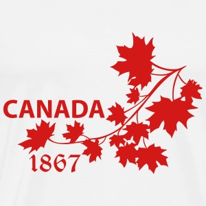 SHOULDER MAPLE LEAF canada BRANCH - Men's Premium T-Shirt