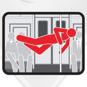 NYC  Subway Pole Dancer (red means bad) - Bandana
