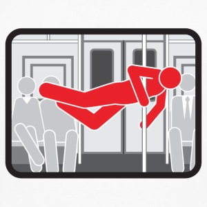 NYC  Subway Pole Dancer (red means bad) - Men's Premium Long Sleeve T-Shirt