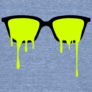 Psychedelic nerd glasses with LSD color drops Tanks - Unisex Tri-Blend T-Shirt by American Apparel