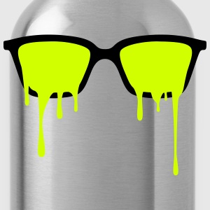 Psychedelic nerd glasses with LSD color drops Tanks - Water Bottle