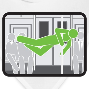 Subway pole dancer (green means good) - Bandana