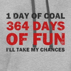Christmas Coal VS 364 Days of Fun T-Shirts - Contrast Hoodie