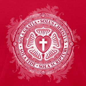 Christian Jesus Rose Lutheran - Men's T-Shirt by American Apparel