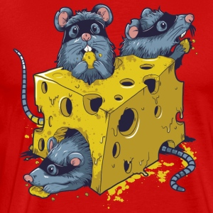 CHEESE & RAT MEN 3XL/4XL HOODED SWEATSHIRT - Men's Premium T-Shirt