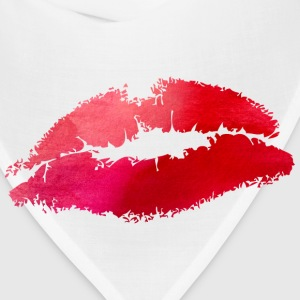 Watercolor Lips- Kiss Women's T-Shirts - Bandana