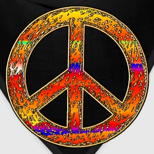 Hippy Rainbow Peace Sign. - Bandana