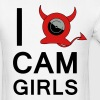 I HEART CAM GIRLS T-Shirts - Men's T-Shirt