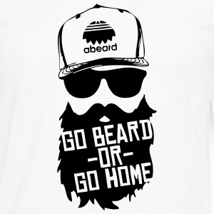 Go Beard or Go Home Hoodies - Men's Premium Long Sleeve T-Shirt