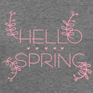 Hello spring Women's Flowy Tank Top by Bella - Women's Wideneck Sweatshirt
