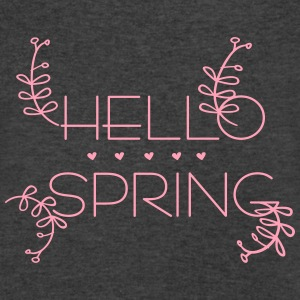 Hello spring Women's Flowy Tank Top by Bella - Men's V-Neck T-Shirt by Canvas