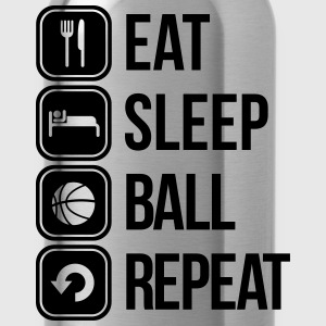 eat sleep basketball repeat T-Shirts - Water Bottle