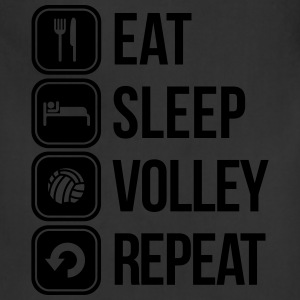 eat sleep volley repeat T-Shirts - Adjustable Apron