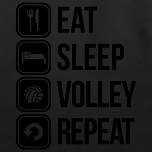 eat sleep volley repeat T-Shirts - Eco-Friendly Cotton Tote