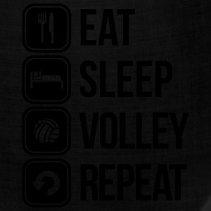 eat sleep volley repeat T-Shirts - Bandana