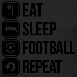 eat sleep football repeat T-Shirts - Men's Premium Long Sleeve T-Shirt