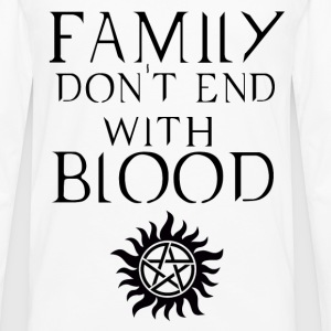 Family don't end with blood Dark T-Shirts - Men's Premium Long Sleeve T-Shirt