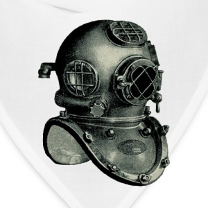 US Navy Mark V Diving Helmet Illustration - Bandana
