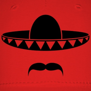 Sombrero with a beard from Mexico Shirt - Baseball Cap