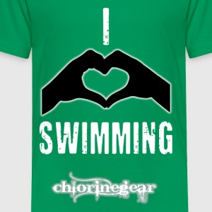 I heart swimming Kids' Shirts - Toddler Premium T-Shirt