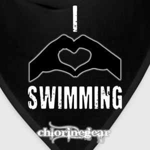 I heart swimming Hoodies - Bandana