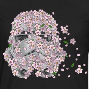 Stormtrooper Helmet with Cherry Blossoms 1 Hoodies - Men's Premium Long Sleeve T-Shirt