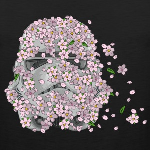 Stormtrooper Helmet with Cherry Blossoms 1 Hoodies - Men's Premium Tank