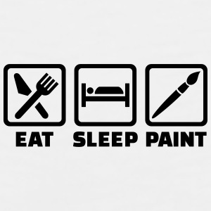 Eat Sleep paint Mugs & Drinkware - Men's Premium Tank