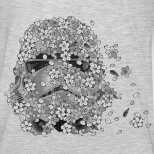 Stormtrooper Helmet Cherry Blossoms 2 Hoodies - Men's Premium Long Sleeve T-Shirt