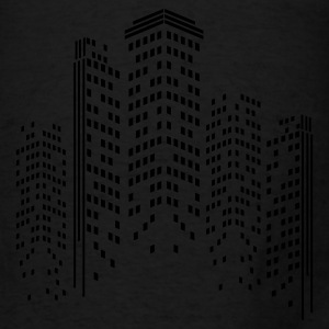 City Skyline by Night Bags & backpacks - Men's T-Shirt