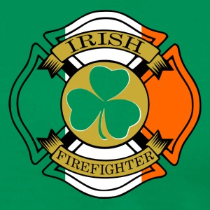Irish Firefighter Maltese Cross Hoodies - Men's Premium T-Shirt