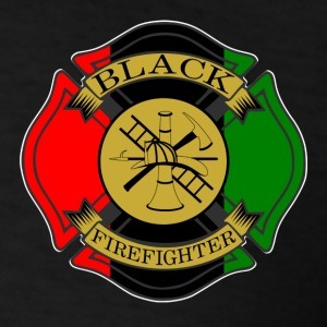 Never Underestimate Bravery of Black Firefighter  - Men's T-Shirt