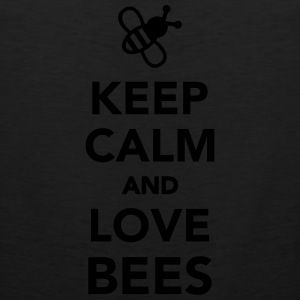 Keep calm and love Bees Kids' Shirts - Men's Premium Tank