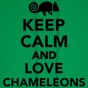 Keep calm and love chameleons Kids' Shirts - Men's Hoodie