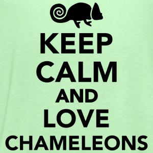 Keep calm and love chameleons Kids' Shirts - Women's Flowy Tank Top by Bella