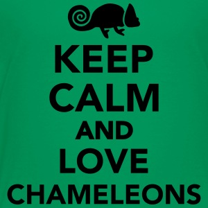 Keep calm and love chameleons Kids' Shirts - Toddler Premium T-Shirt