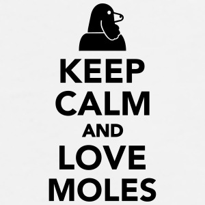 Keep calm and love moles Mugs & Drinkware - Men's Premium T-Shirt